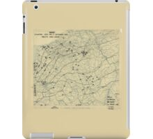 September 7 1944 World War II Twelfth Army Group Situation Map iPad Case/Skin