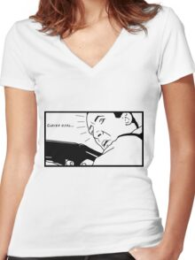 Clever girl... Women's Fitted V-Neck T-Shirt