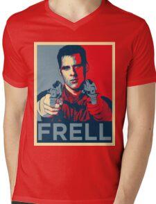 crichton propaganda Mens V-Neck T-Shirt