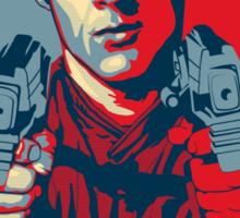 crichton propaganda Sticker