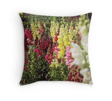 Coloured Flowers Throw Pillow