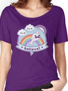 Believe in Narwhals Women's Relaxed Fit T-Shirt