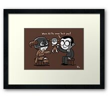 Knee Trouble Framed Print