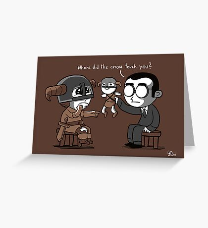 Knee Trouble Greeting Card