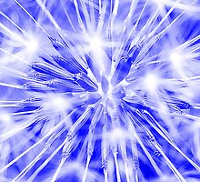 Dandelion clock - blue by Ian Hosker