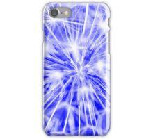 Dandelion clock - blue iPhone Case/Skin