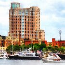Boats at Inner Harbor Baltimore MD by Susan Savad