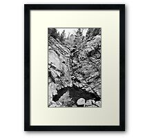 Colorado Rocky Mountain Black Gold Framed Print
