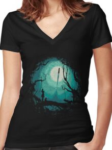 After Cosmic War Women's Fitted V-Neck T-Shirt
