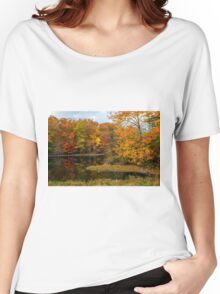 Autumn Pond Reflections Women's Relaxed Fit T-Shirt
