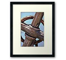 Old Wooden Anchor Framed Print