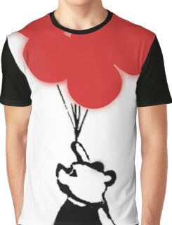 Flying Balloon Bear - Red Balloons Version Graphic T-Shirt
