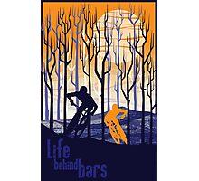 retro mountain bike poster illustration Photographic Print