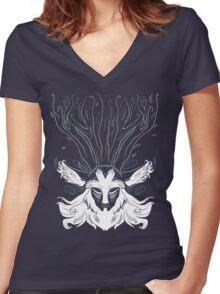 Forest Spirit Women's Fitted V-Neck T-Shirt