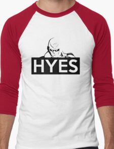 HYES Men's Baseball ¾ T-Shirt