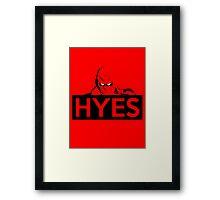 HYES Framed Print