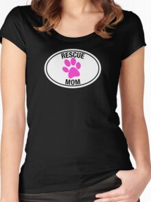 RESCUE MOM - PINK HEART Women's Fitted Scoop T-Shirt