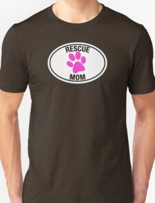 RESCUE MOM - PINK HEART Unisex T-Shirt