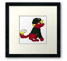 Red Furry Communist Dog Framed Print