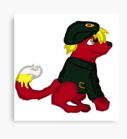 Red Furry Communist Dog Canvas Print