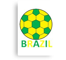 Brazil Football Canvas Print