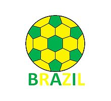 Brazil Football Photographic Print