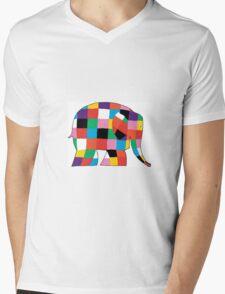 Elmer the Elephant  Mens V-Neck T-Shirt