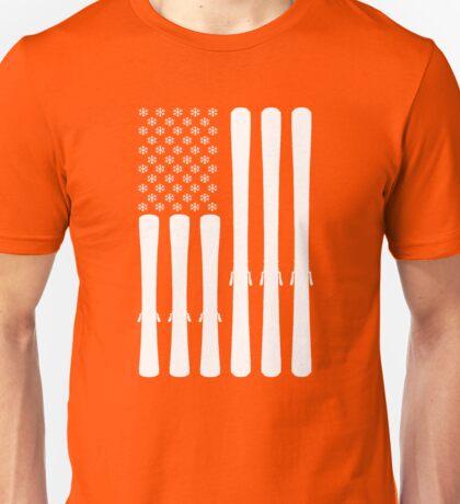 USA Ski Flag Unisex T-Shirt