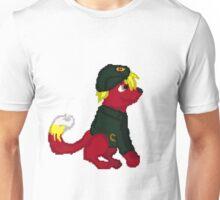 Red Furry Communist Dog Pixel Unisex T-Shirt