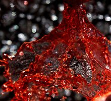 Red Liquid 3 by April Webb