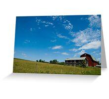 Red Barn vs Blue Sky Greeting Card