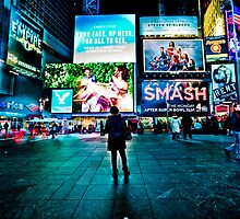 Waiting in Time Square by sxhuang818