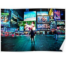 Waiting in Time Square Poster