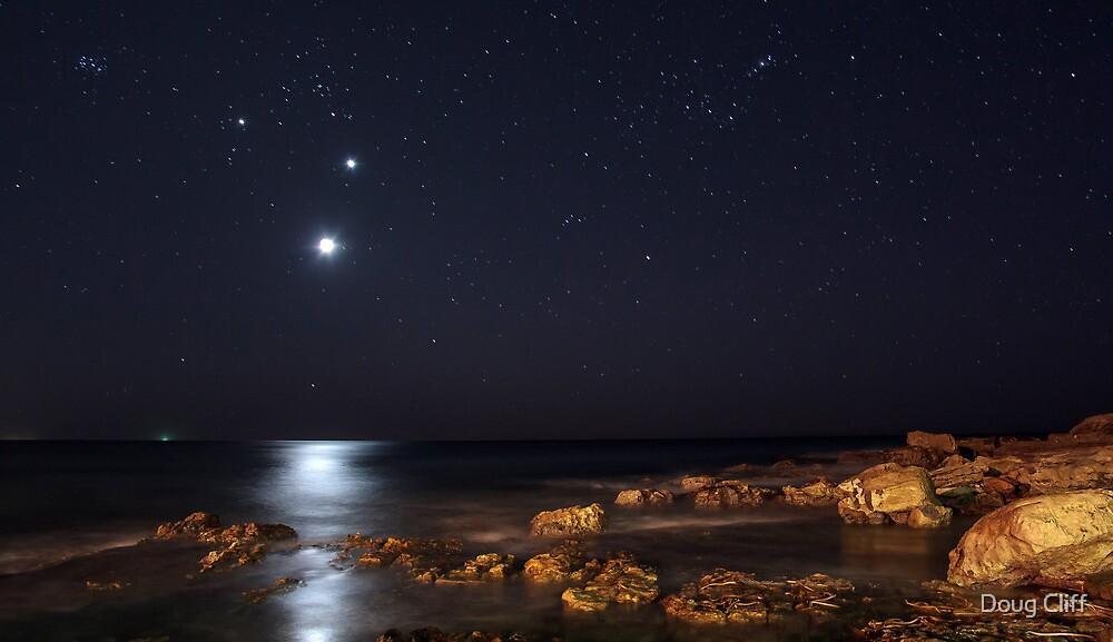 Moon, Venus and Jupiter by Doug Cliff