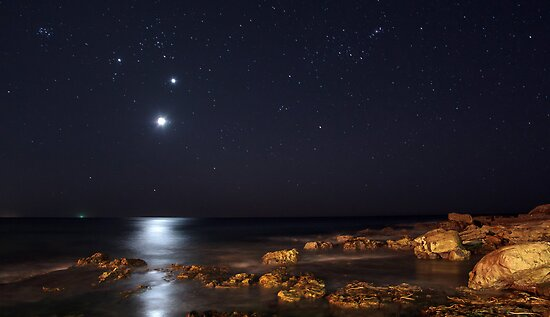 Moon, Venus and Jupiter by Doug Cliff