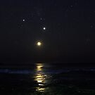 Moon, Jupiter and Venus by Doug Cliff