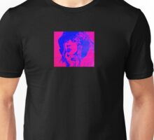 Violet and blue lady Unisex T-Shirt