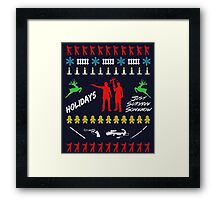 Walking Dead - Ugly Christmas sweater knitted Framed Print