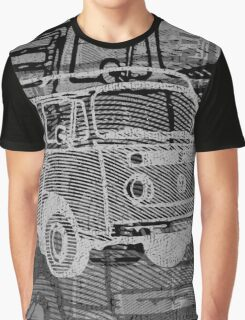 Silver Black Bay Campervan Montage Graphic T-Shirt