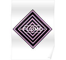 Flume psy - white Poster