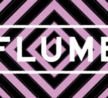 Flume psy - white Sticker