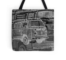 Silver Black Bay Campervan Montage Tote Bag
