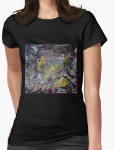 Light and Darkness -BIG Original mixed media painting Womens Fitted T-Shirt