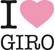 I LOVE GIRO Photographic Print