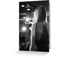Model on a stage Greeting Card