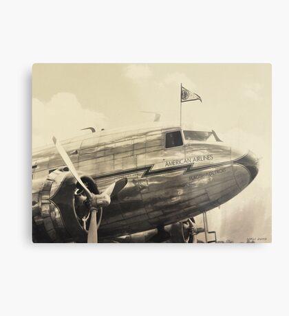 American Airlines Flagship Detroit Metal Print