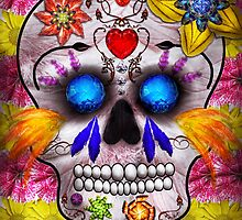 Day of the Dead - Death Mask by Mike  Savad