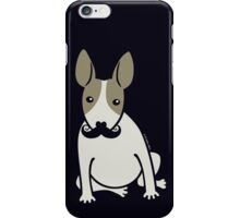 English Bull Terrier with Moustache - puppy dog iPhone Case/Skin