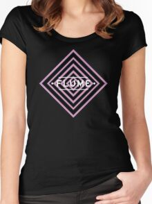 Flume psy - black Women's Fitted Scoop T-Shirt