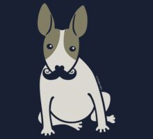 English Bull Terrier with Moustache - puppy dog One Piece - Long Sleeve